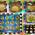 Petits gâteaux bananes, coco, citron et kiwis