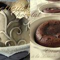 Moelleux chocolat, coeur coulant banane et noix de pécan caramélisées