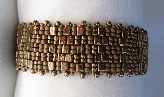 bracelet Checkered destructuré bronze