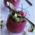 Mousse de betteraves aux radis et concombre....light et frais! que demander de plus quand il fait très chaud?