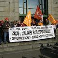 manifestation et blocus de l'<b>A84</b> à Avranches