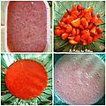 Glace maison à la fraise