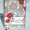 birthday wishes - red flowers 2014