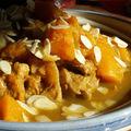 Tajine de veau, butternut et abricots moelleux