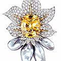 Yellow sapphire brooch. <b>Donna</b> <b>Vock</b> <b>Designs</b>