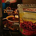 Muffins chocolat-cranberries