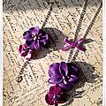 Bracelet et sautoir orchidées