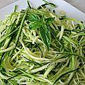 Spaghettis de courgettes aux tomates séchées et basilic
