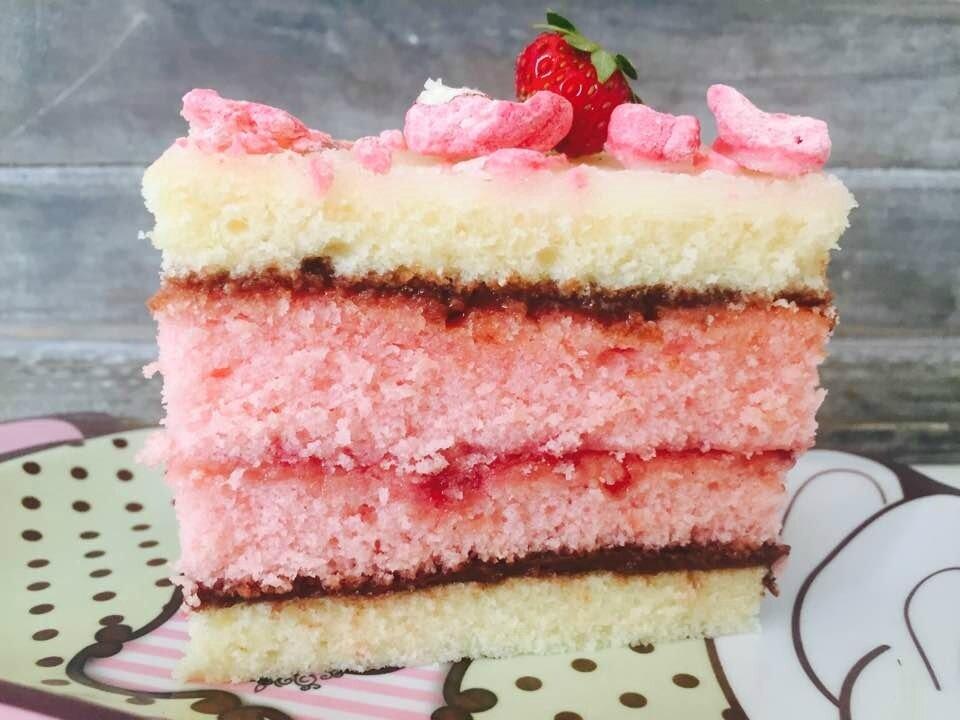 Napolitain fraise praline rose
