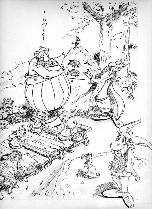 Ast rix et ob lix mannick villef - Dessin de asterix ...