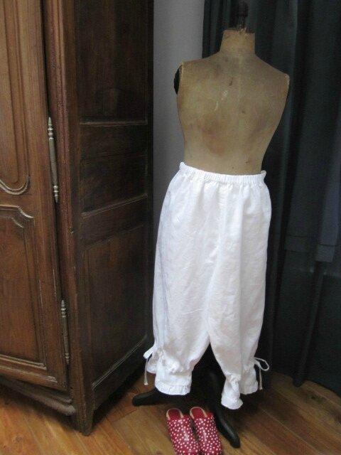 Panty BENEDICTE en lin fin blanc (8)