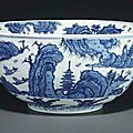 A large blue and white bowl, Ming dynasty, 16th-17th centuy