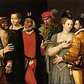 Ecole française vers 1580,Scène de la <b>Commedia</b> <b>dell</b>'<b>Arte</b>