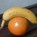 Verrine meringuée pamplemousse banane