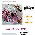 Atelier Béapassion le 10 juillet 2017 aux feuillages <b>Fercé</b>