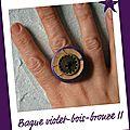 Bague violette et bronze 2 (b149)