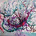 Eclaboussures encres de couleur