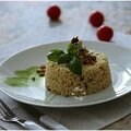 Risotto fourme d'ambert, basilic, tomates sechées pignons de pin....un régal!