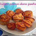 Muffins poivron chèvre jambon