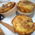 Tartelettes camembert, champignons et noisettes