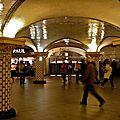 Station Saint-Lazare Lignes 3, 9, 12, 13 & 14.