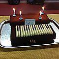 Création : le gâteau piano