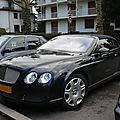 Bentley continental gtc cabriolet 4 places