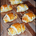 Mini croissants apéro jambon/fromage...