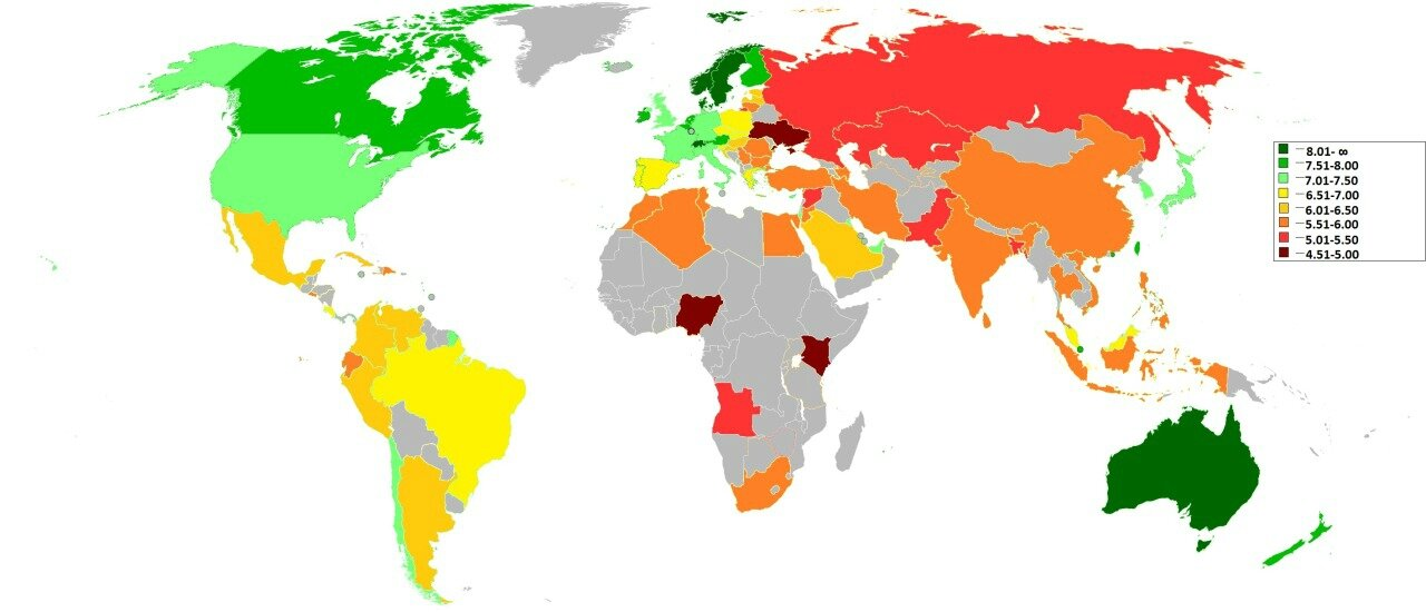 Where-to-be-born Index, 2013