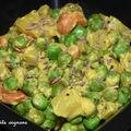 Curry pommes de terre & petits-pois