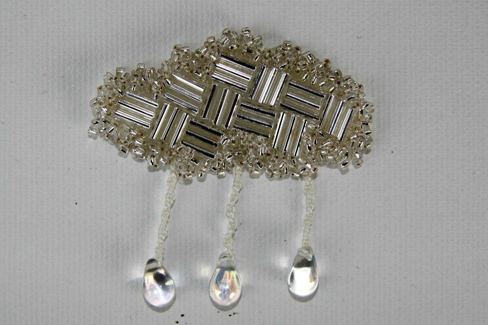 nuage argent - kit broche