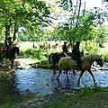 balade equestre gastronomique à La Lucerne d'Outremer (69)