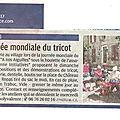 Journee mondiale du tricot : rendez-vous à volonne samedi 11 juin 2016 sur la place de la mairie