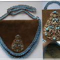 Petit sac cuir et perles