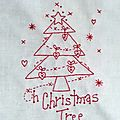 Chrismas stitchery banner # block 5