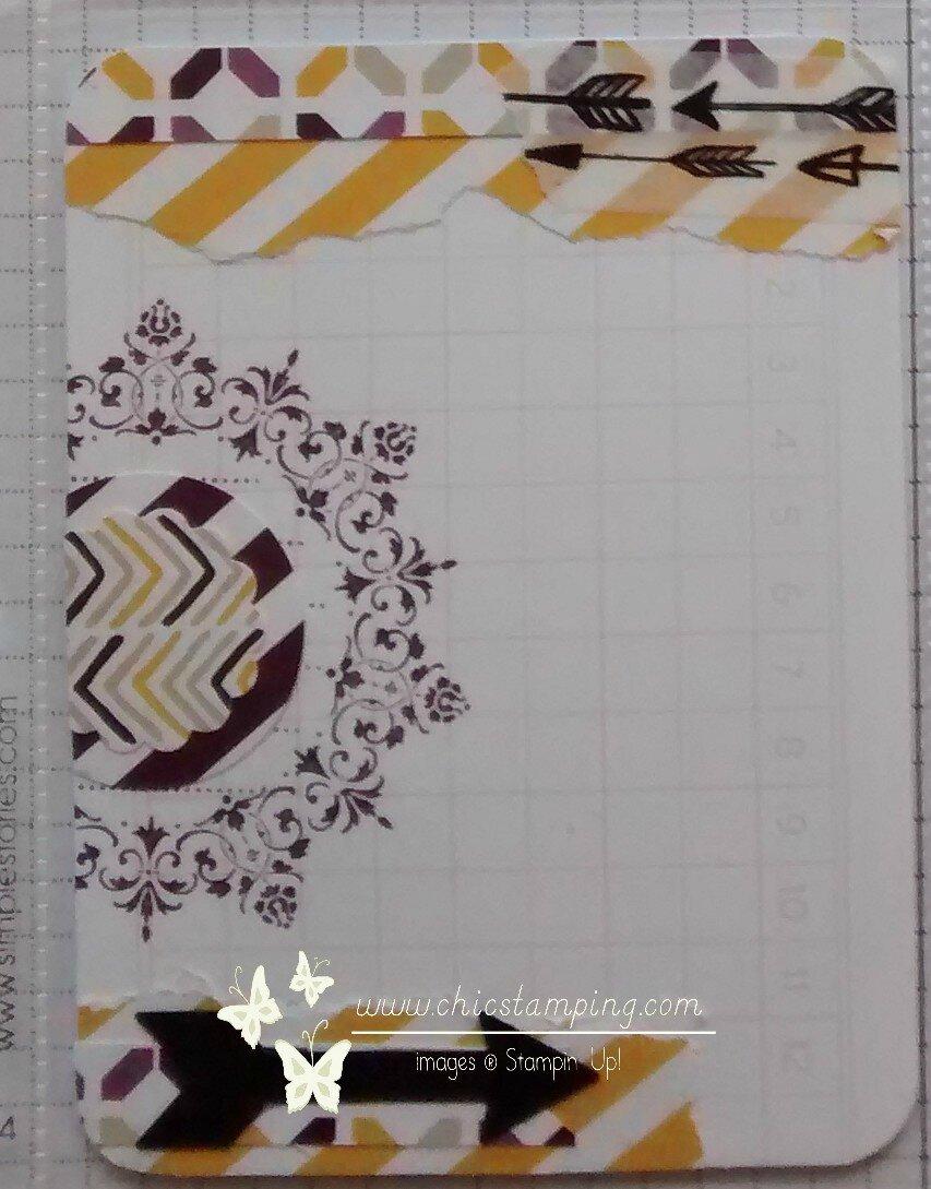 DIY card - serie washi & scrap papers 4