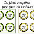Des étiquettes pour pots de confiture de coings free printable ou free <b>silhouette</b> cameo ...