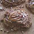 Tartelettes aux poires et amandes sans beurre