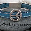 Et pourquoi pas la couleur pour les <b>hommes</b> !? Que diriez vous du turquoise ? Avec ce <b>bracelet</b> pour <b>homme</b> <b>cuir</b> <b>cousu</b> turquoise !?