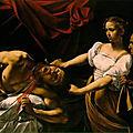 Les tableaux du Caravage à Rome (8/20). N°4 - Palais <b>Barberini</b> - Judith et Holopherne, Narcisse, Saint-François en méditation.