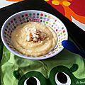 Baby food #4 : purée de pommes de terre/céleri/poulet et compote pommes/figues/crumble de boudoir