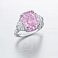 A superb colored <b>diamond</b> and <b>diamond</b> ring