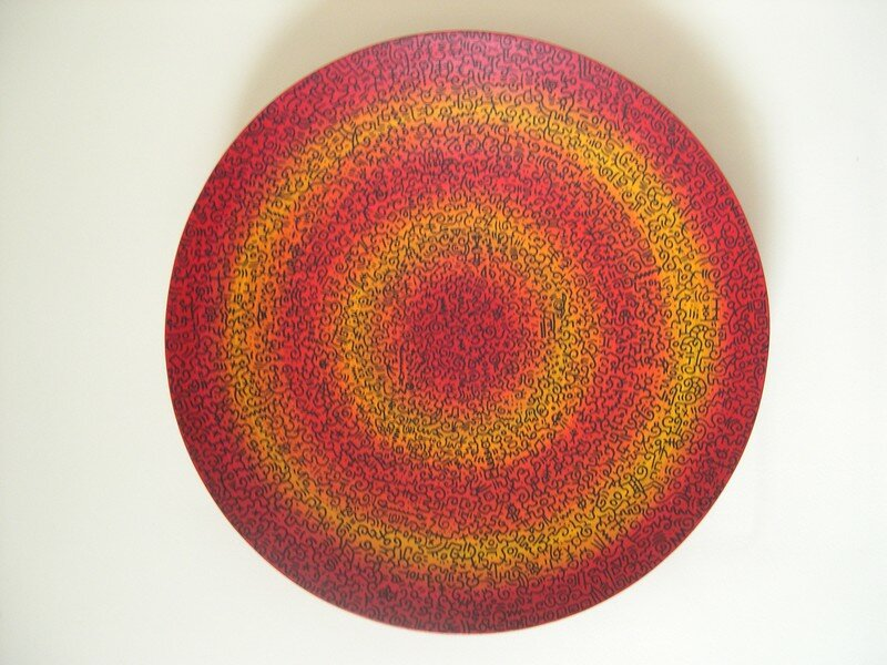 plat rouge diamètre 45 cm