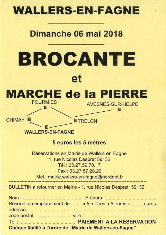WALLERS EN FAGNE-Inscript brocante