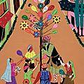 Au fil d'indra : expo-vente de toiles appliquées brodées main en inde.