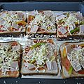 Pizza toast au jambon
