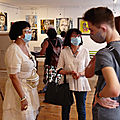 Vernissage samedi de l'exposition de nos six artistes <b>permanents</b> !