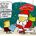 Noël, père noël, cadeaux, société de crédit et heureux les pauvres