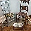 Stage de rempaillage de chaise