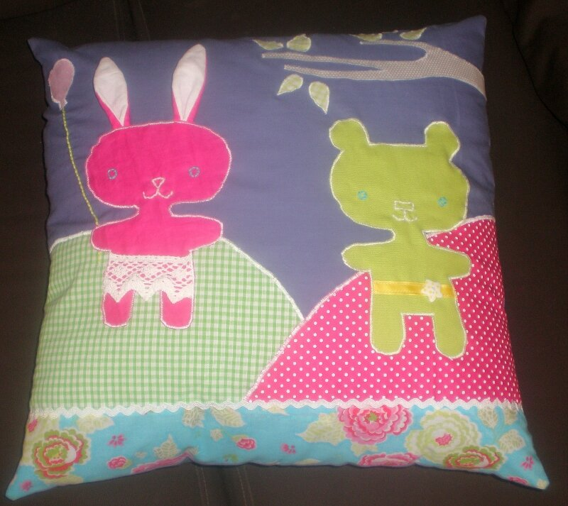 coussin fille